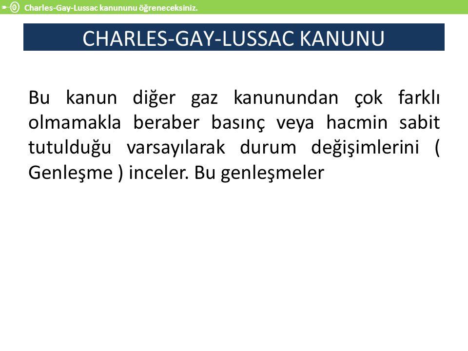CHARLES-GAY-LUSSAC KANUNU