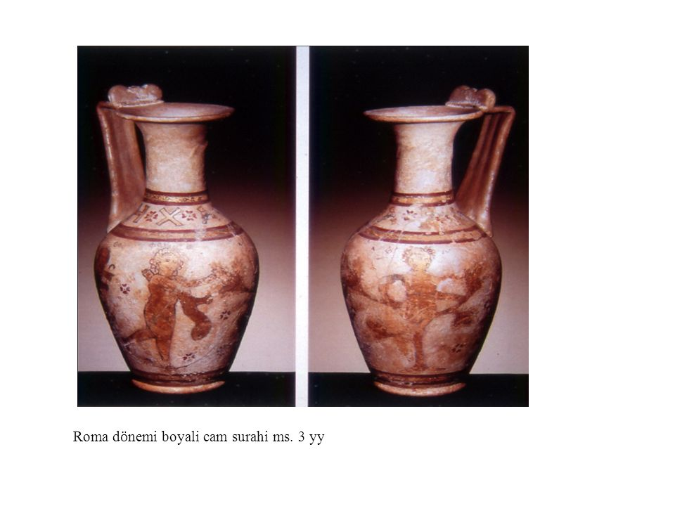 Roma dönemi boyali cam surahi ms. 3 yy