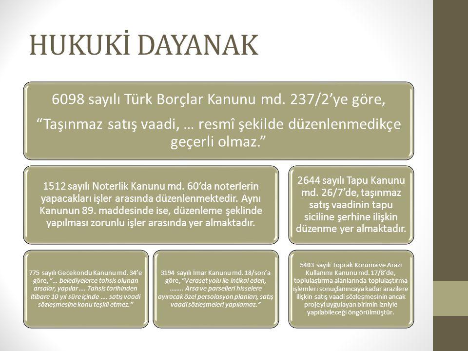 HUKUKİ DAYANAK 6098 sayılı Türk Borçlar Kanunu md. 237/2'ye göre,