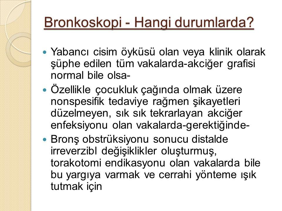 Bronkoskopi - Hangi durumlarda