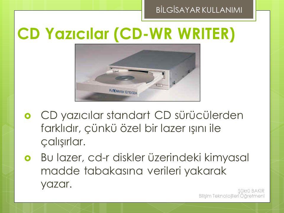 CD Yazıcılar (CD-WR WRITER)
