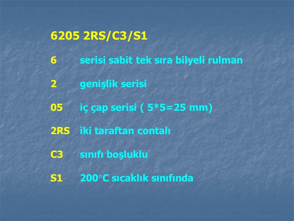 6205 2RS/C3/S1 6 serisi sabit tek sıra bilyeli rulman