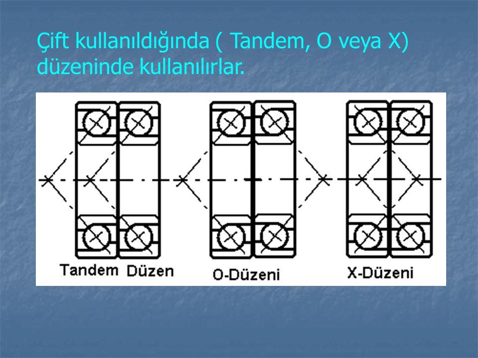Çift kullanıldığında ( Tandem, O veya X) düzeninde kullanılırlar.
