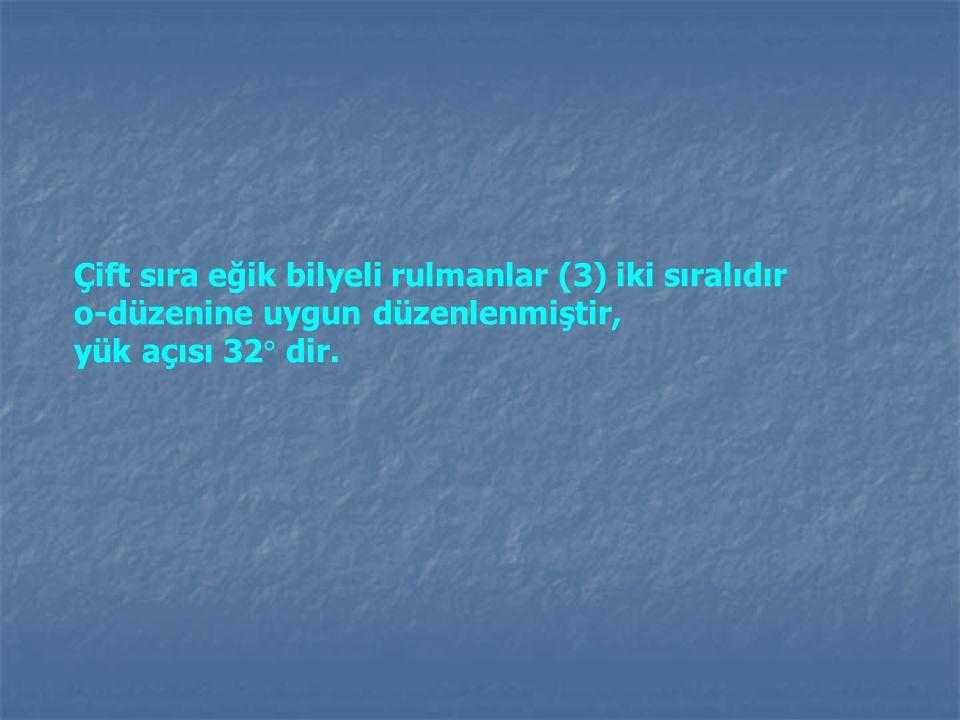 Çift sıra eğik bilyeli rulmanlar (3) iki sıralıdır