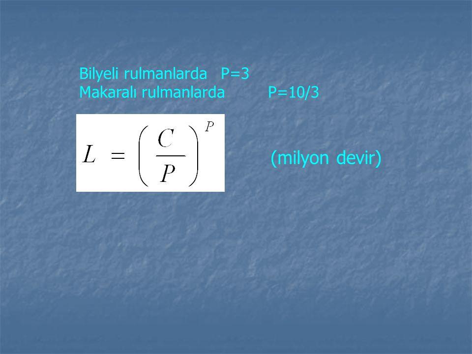 Bilyeli rulmanlarda P=3