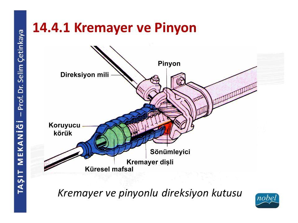 14.4.1 Kremayer ve Pinyon Kremayer ve pinyonlu direksiyon kutusu