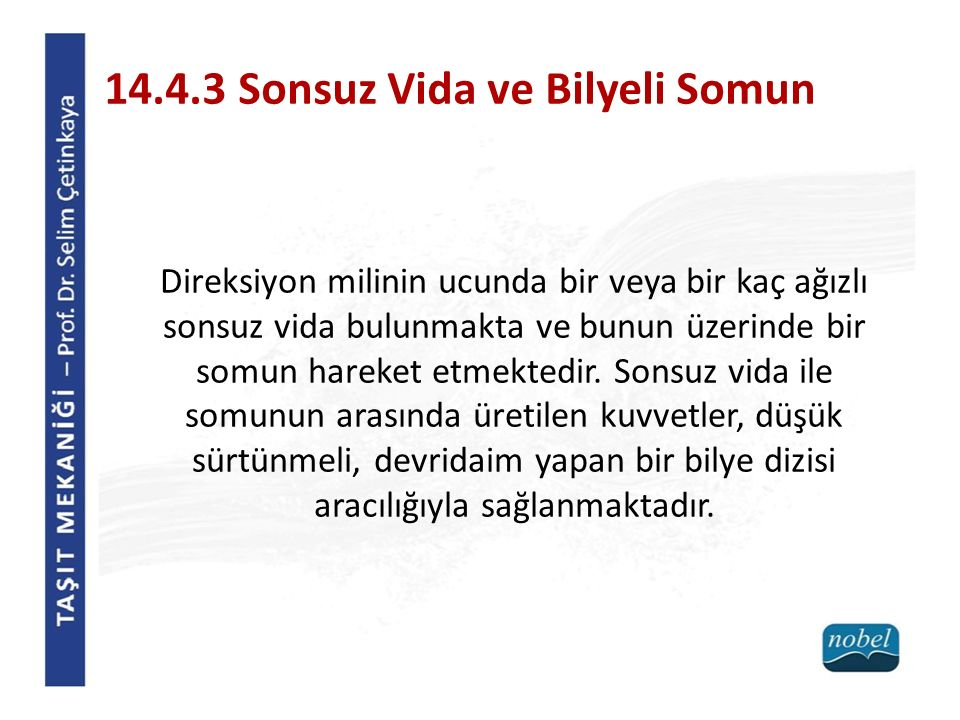 14.4.3 Sonsuz Vida ve Bilyeli Somun