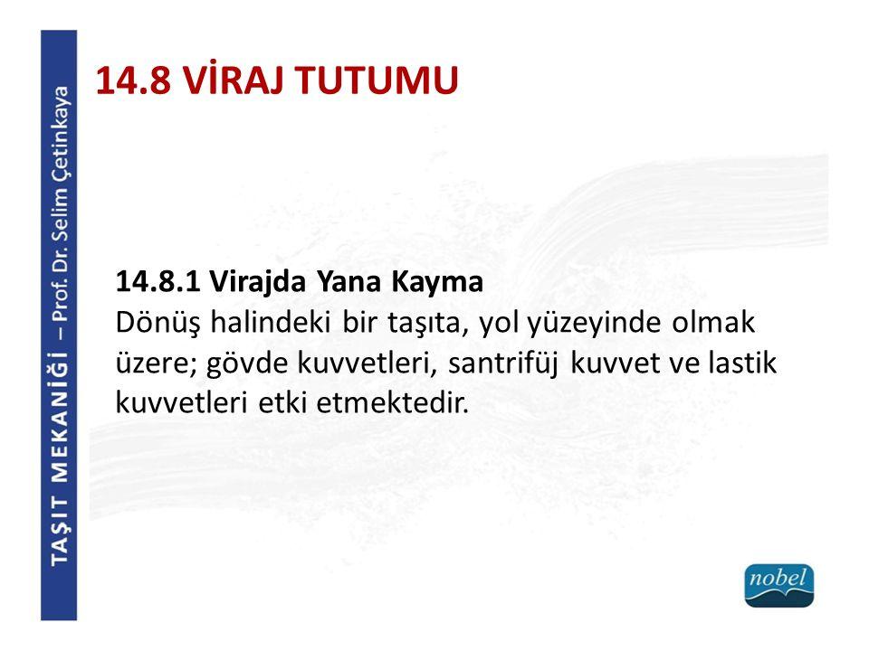 14.8 VİRAJ TUTUMU 14.8.1 Virajda Yana Kayma