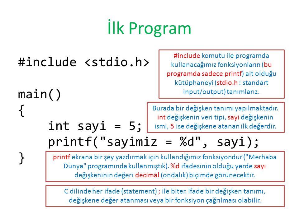 İlk Program