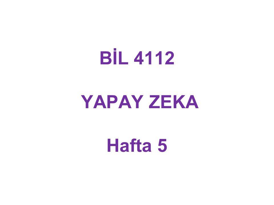 BİL 4112 YAPAY ZEKA Hafta 5