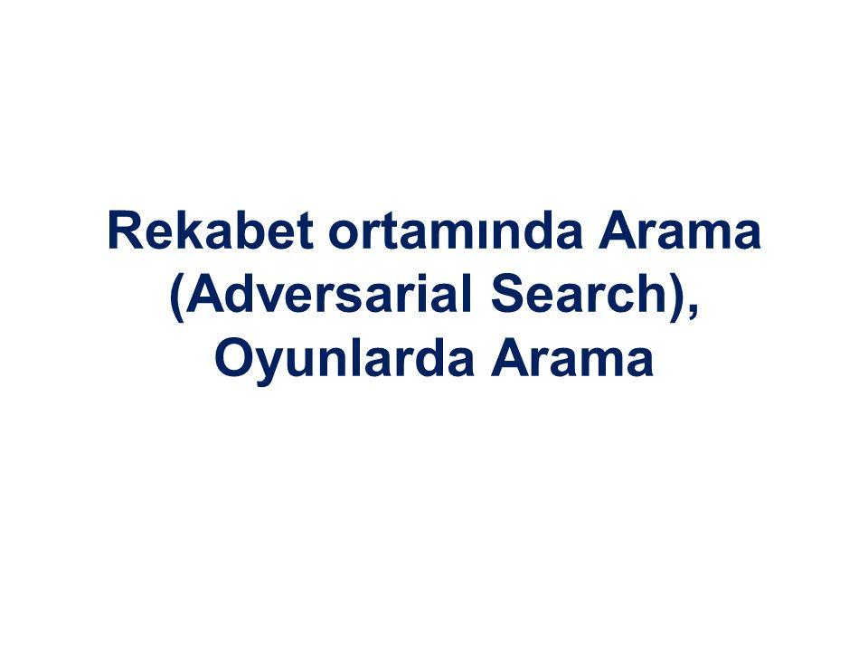 Rekabet ortamında Arama (Adversarial Search), Oyunlarda Arama