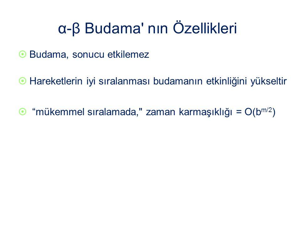 α-β Budama nın Özellikleri