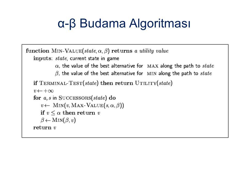 α-β Budama Algoritması