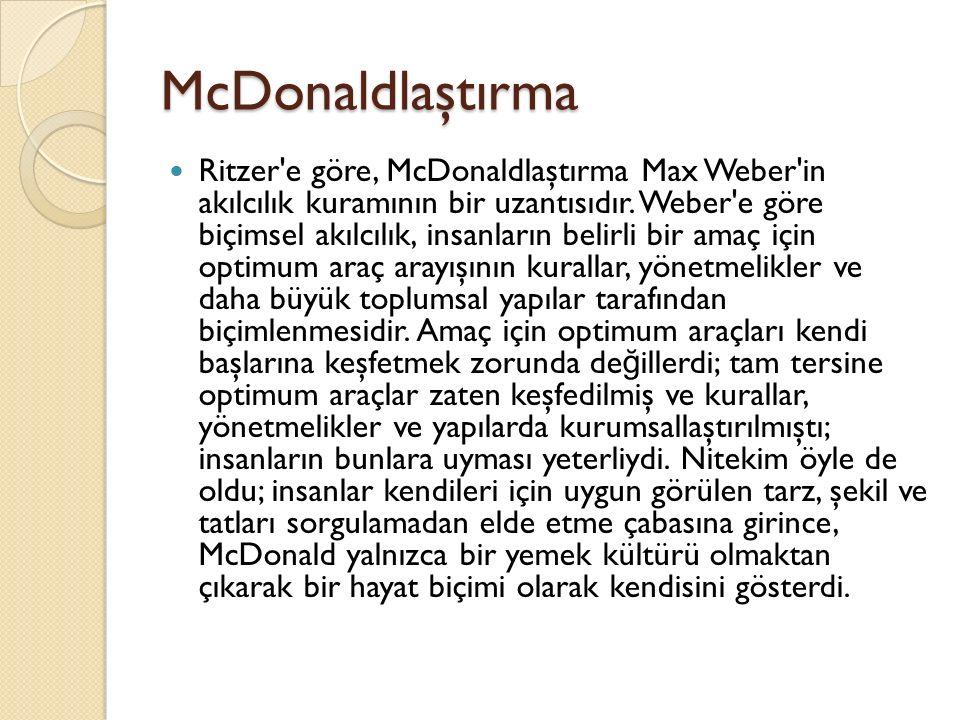 McDonaldlaştırma