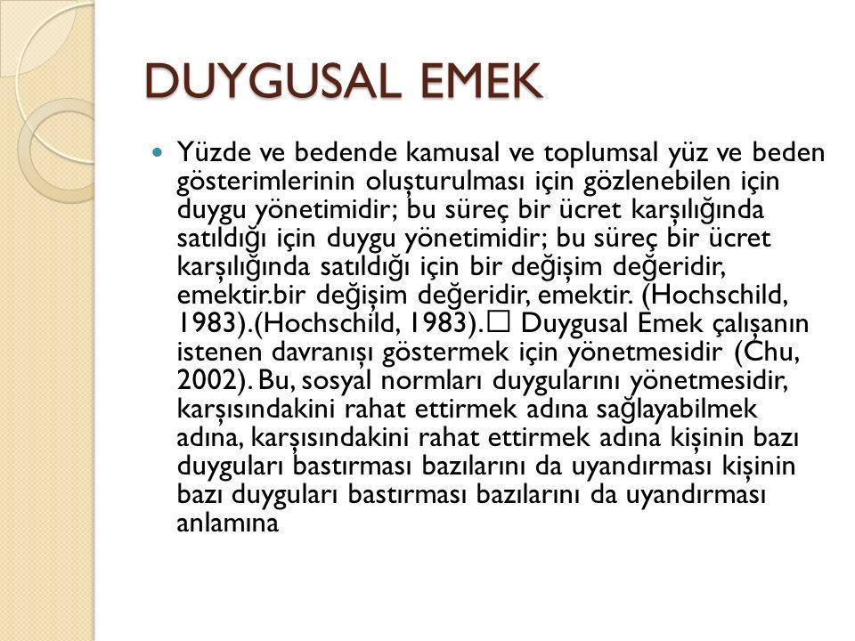 DUYGUSAL EMEK