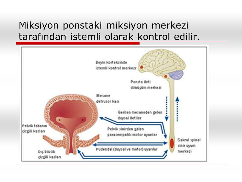 Miksiyon ponstaki miksiyon merkezi tarafından istemli olarak kontrol edilir.