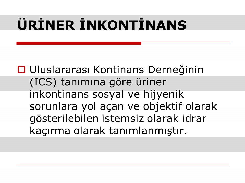 ÜRİNER İNKONTİNANS