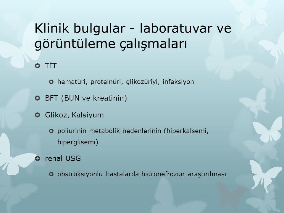 Klinik bulgular - laboratuvar ve görüntüleme çalışmaları