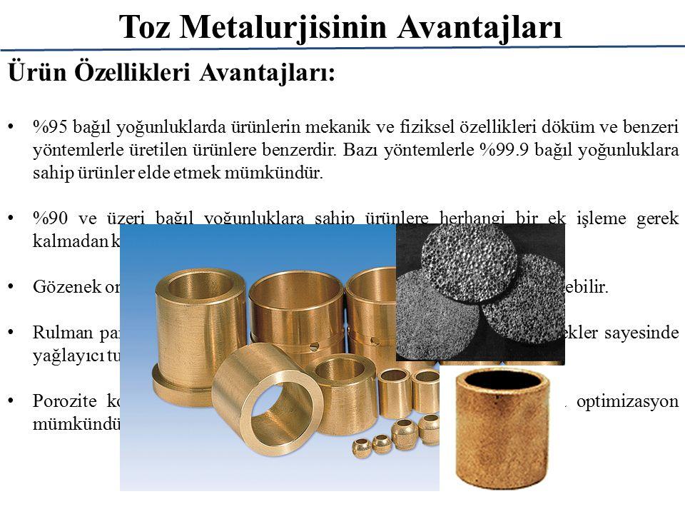 Toz Metalurjisinin Avantajları