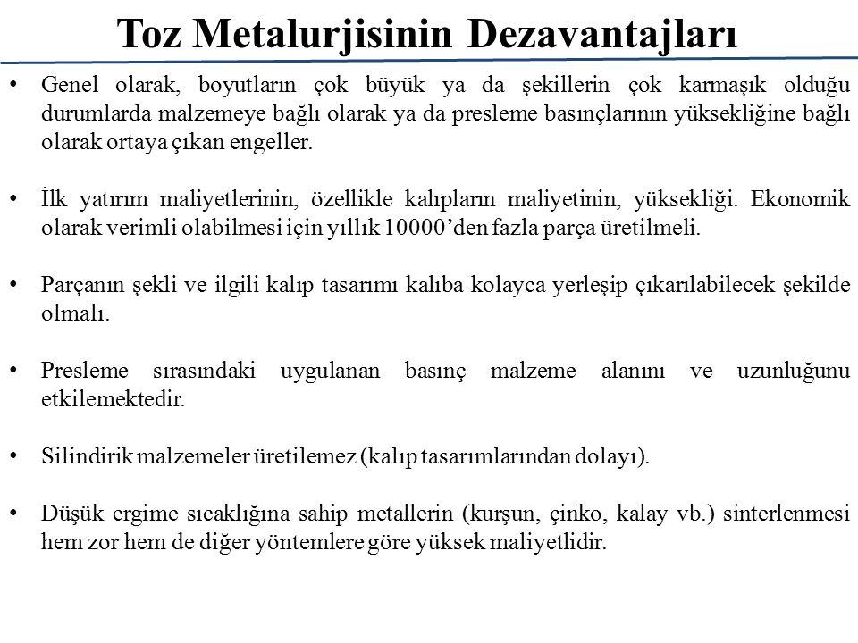 Toz Metalurjisinin Dezavantajları