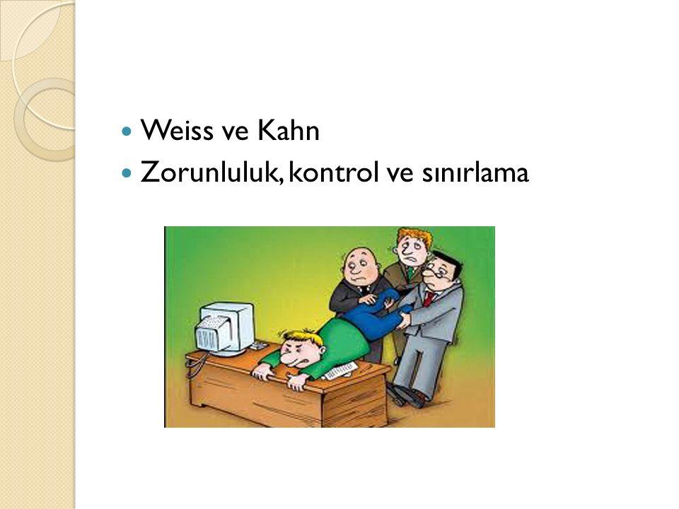 Weiss ve Kahn Zorunluluk, kontrol ve sınırlama