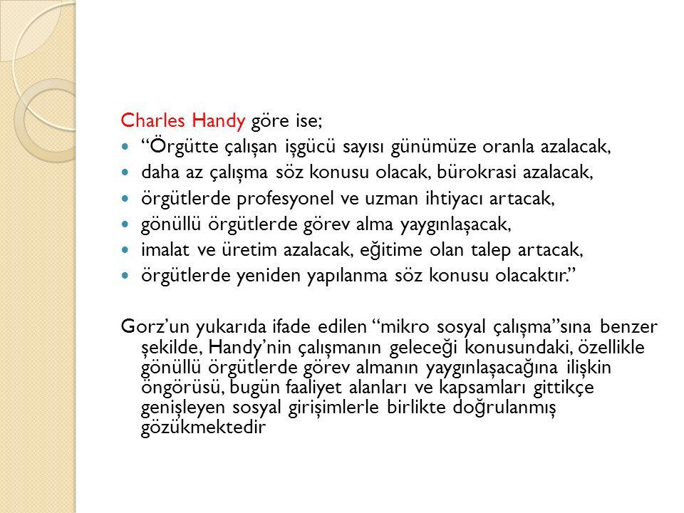 Charles Handy göre ise;