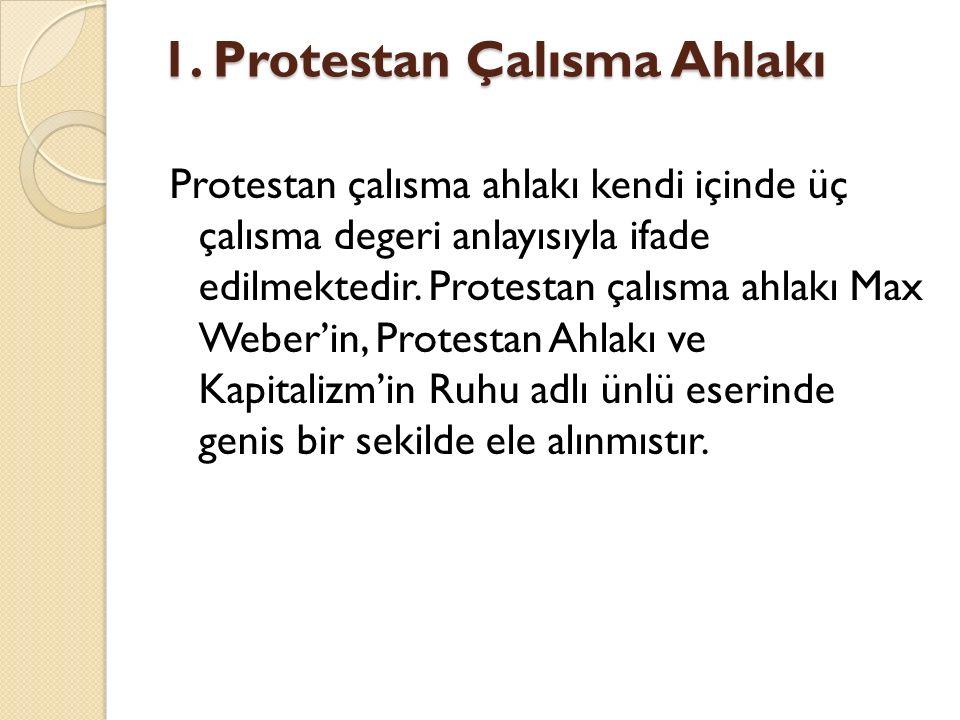 1. Protestan Çalısma Ahlakı