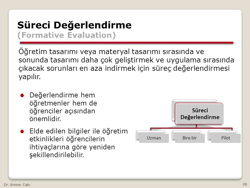 Süreci Değerlendirme (Formative Evaluation)