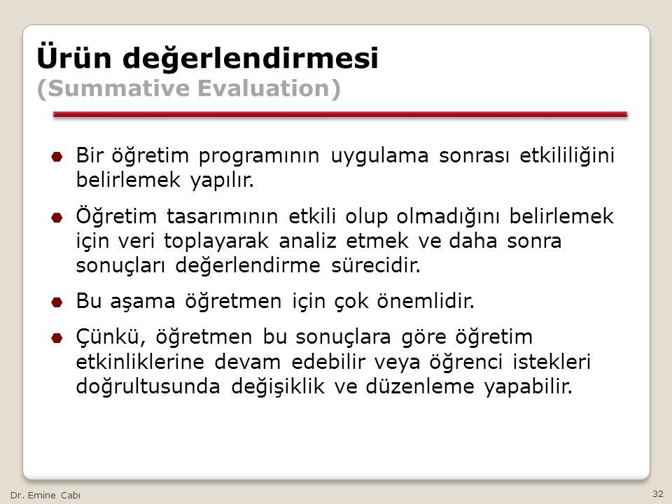 Ürün değerlendirmesi (Summative Evaluation)