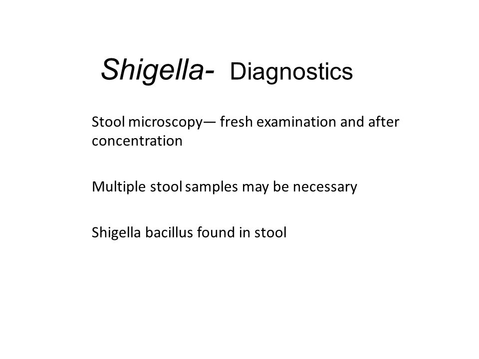 Shigella- Diagnostics