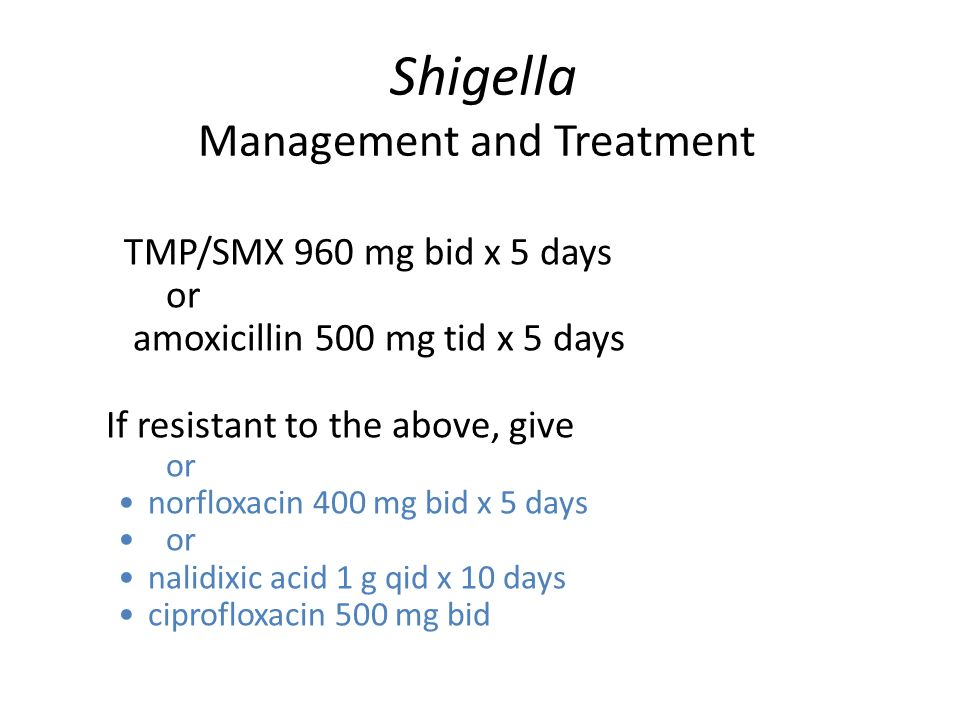 Shigella Management and Treatment