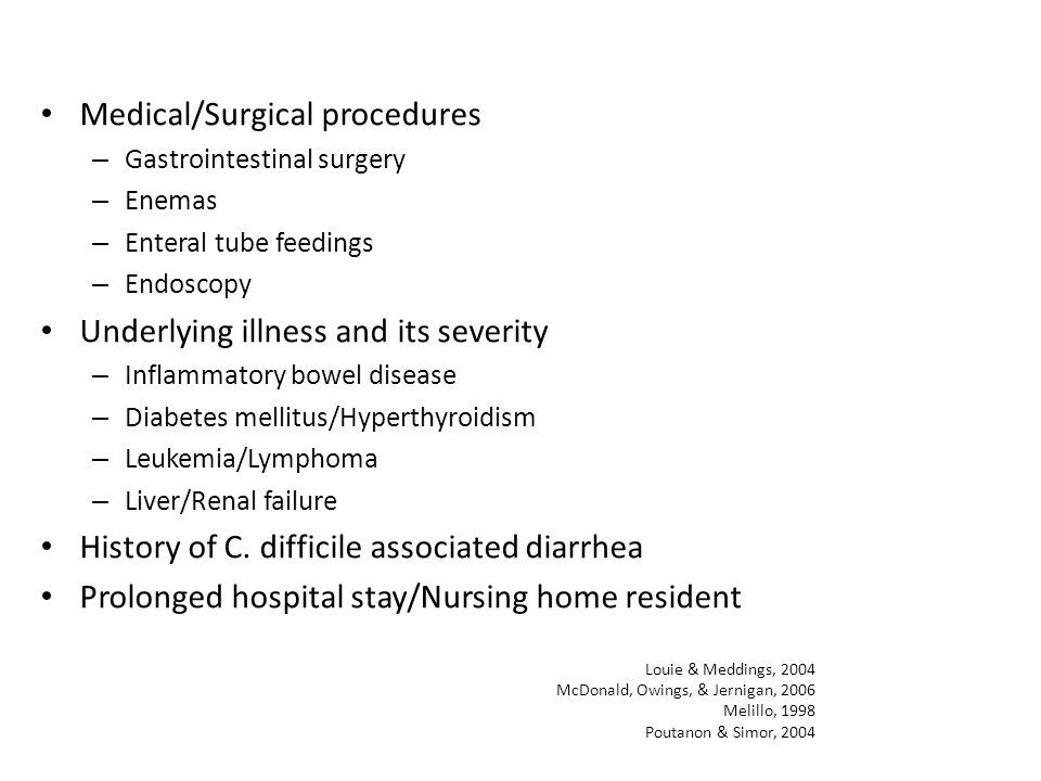 Medical/Surgical procedures
