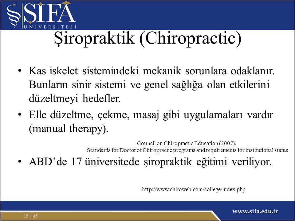 Şiropraktik (Chiropractic)