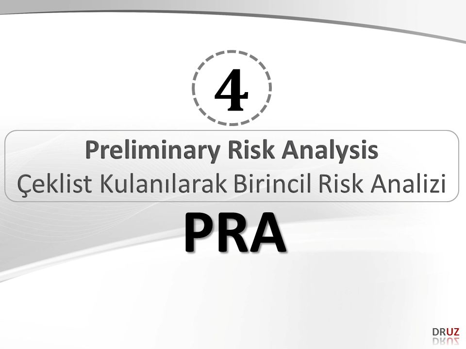 Preliminary Risk Analysis
