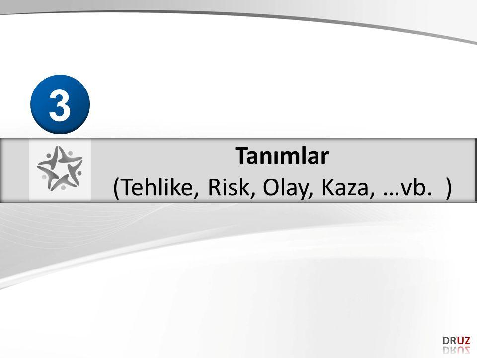 (Tehlike, Risk, Olay, Kaza, …vb. )