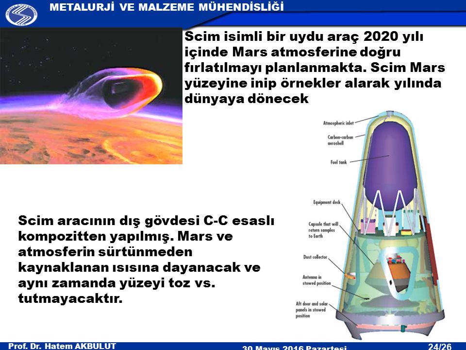 Scim isimli bir uydu araç 2020 yılı içinde Mars atmosferine doğru fırlatılmayı planlanmakta. Scim Mars yüzeyine inip örnekler alarak yılında dünyaya dönecek