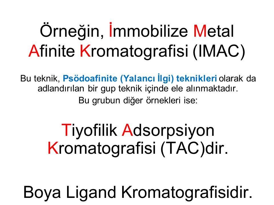 Örneğin, İmmobilize Metal Afinite Kromatografisi (IMAC)