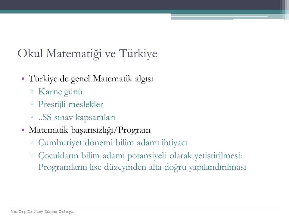 Okul Matematiği ve Türkiye