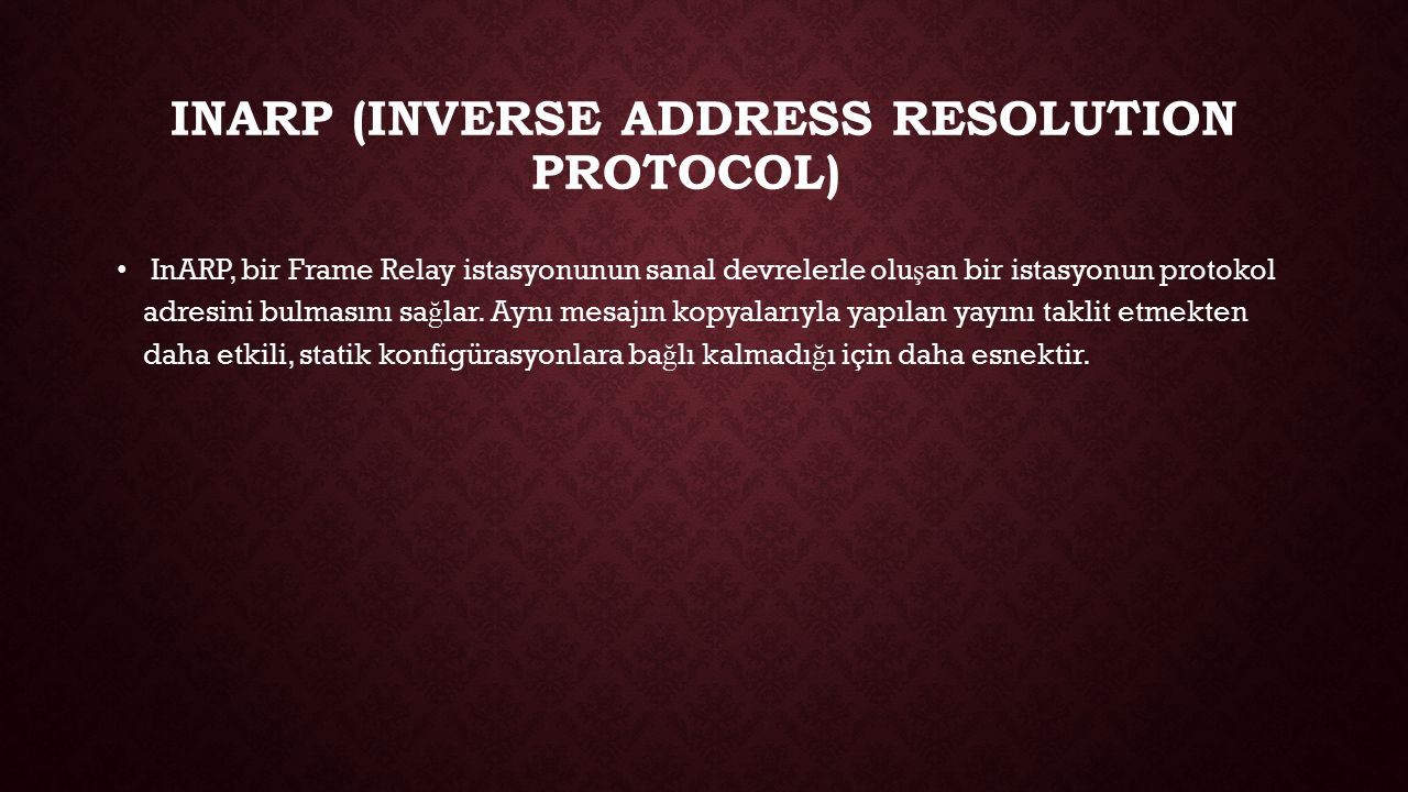 Inarp (INVERSE ADDRESS RESOLUTION PROTOCOL)