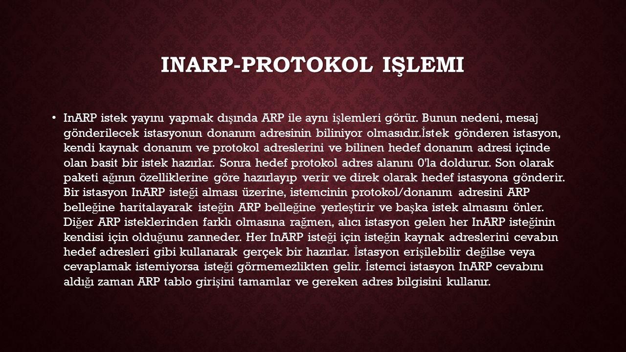 Inarp-PROTOKOL işlemi