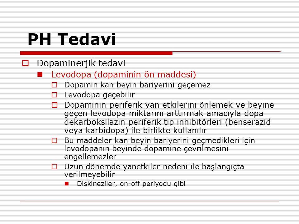 PH Tedavi Dopaminerjik tedavi Levodopa (dopaminin ön maddesi)