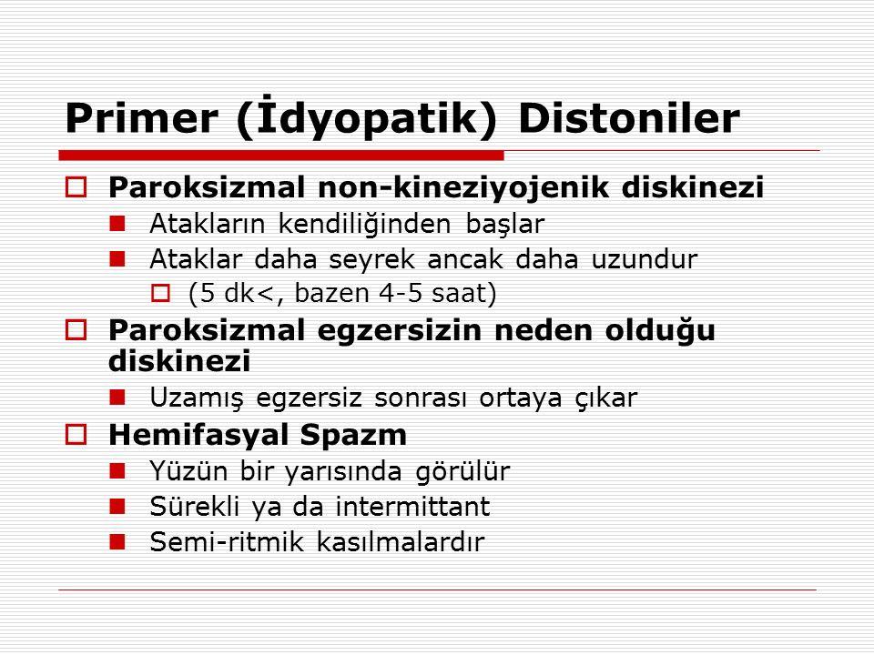 Primer (İdyopatik) Distoniler