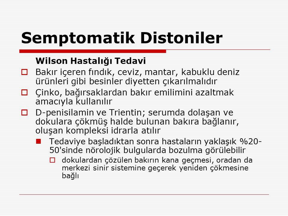 Semptomatik Distoniler