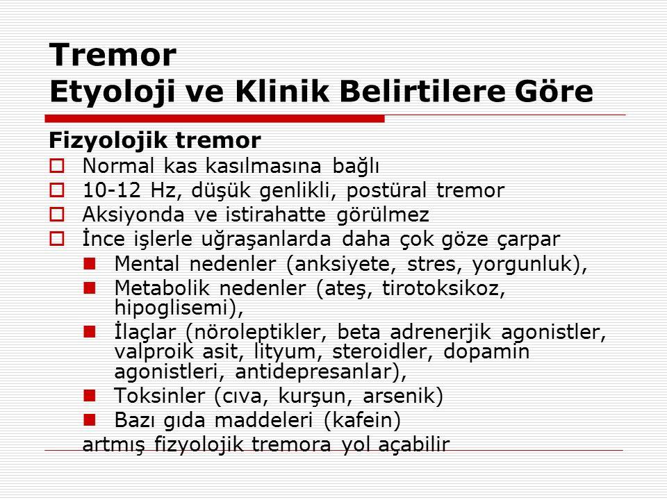 Tremor Etyoloji ve Klinik Belirtilere Göre