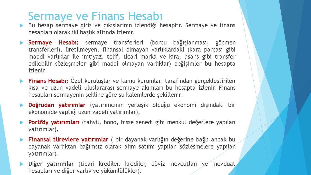 Sermaye ve Finans Hesabı