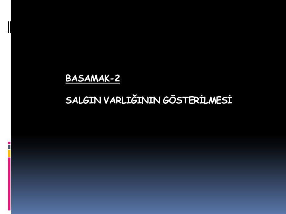 BASAMAK-2 SALGIN VARLIĞININ GÖSTERİLMESİ