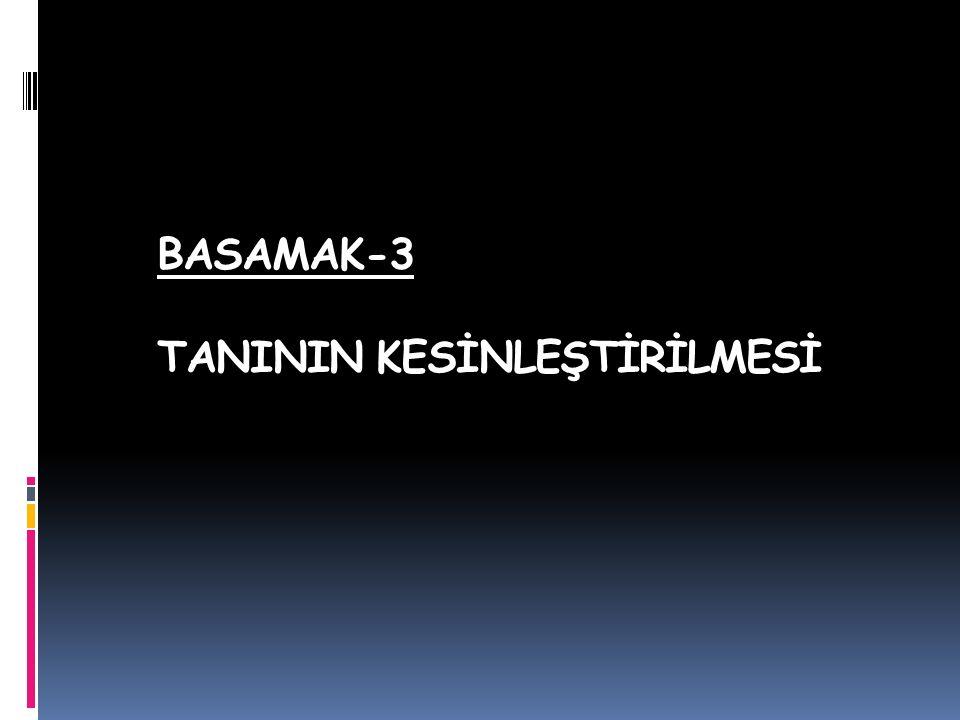 BASAMAK-3 TANININ KESİNLEŞTİRİLMESİ