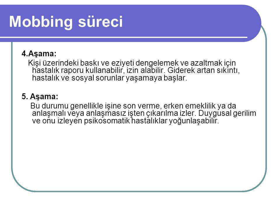 Mobbing süreci 4.Aşama: