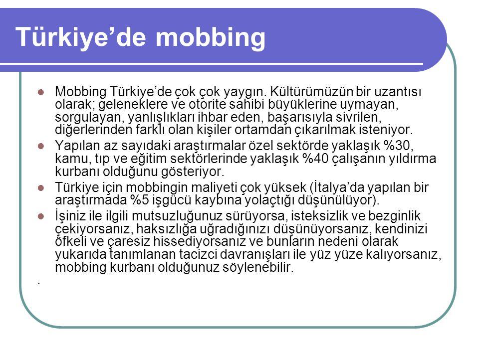 Türkiye'de mobbing