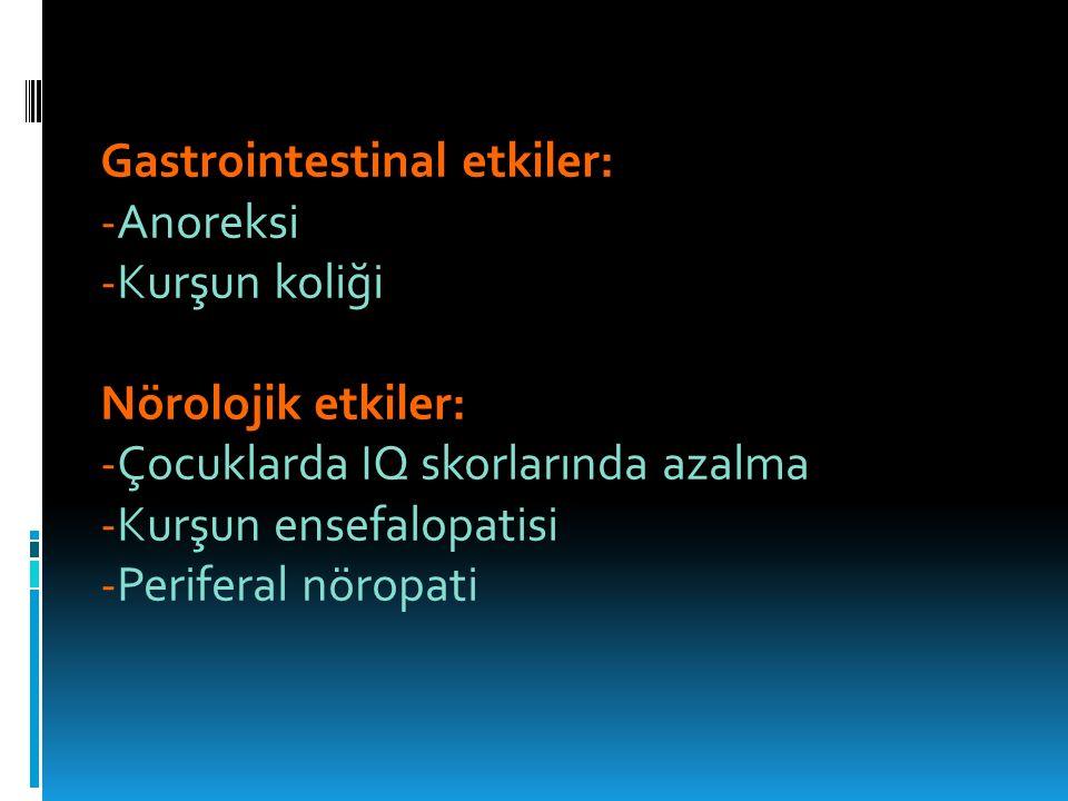 Gastrointestinal etkiler: